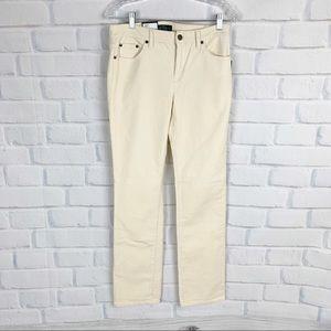 Lauren Ralph Lauren Cream Corduroy Pants